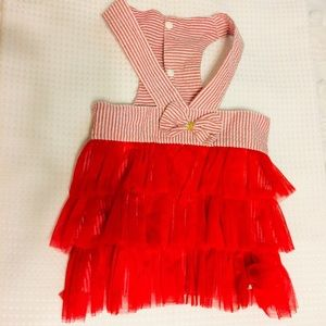 Other - (Dog) Cute little ruffle number snaps chest
